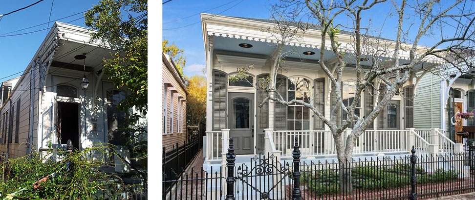 GARDEN DISTRICT - BEFORE AND AFTER - EXTERIOR