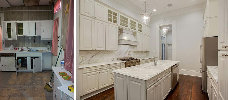 GARDEN DISTRICT - BEFORE AND AFTER - KITCHEN